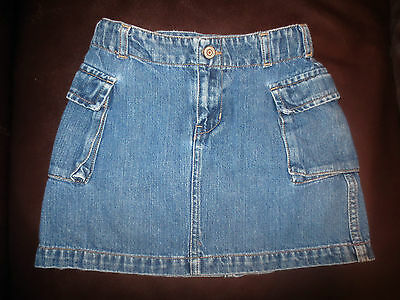 Gap Kids Girl's Denim Cargo Skirt With Adjustable Waist- Size 5