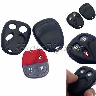 3 Button Keyless Replacement Remote Key Fob Shell Pad Transmitter for GMC Saturn