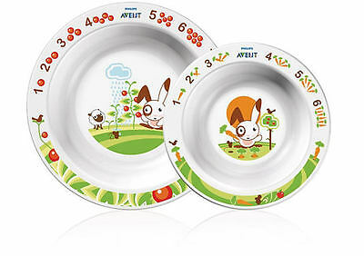 Philips Avent Baby Toddler Mealtime 2 Piece Bowl Feeding Set Suits Ages 6 Mnth +