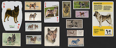 15 Original Norwegian Elkhound Collectable Dog Cigarette Trade And Breed Cards