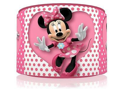 "Pink Heart Minnie Mouse Light Ceiling Lamp Shade 11"" Nursery Kids Room Free P&p"