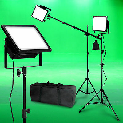 150W LED Photo Video Light Kit Boom Black Body Photographic Studio Lighting Set