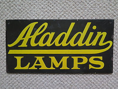 ALADDIN LAMPS DOUBLE SIDED ENAMEL SIGN c1920s to 1930s