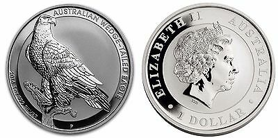 Australian $1, 1 oz. Silver Coin, 2016, Mint, Wedge Tail Eagle,QE II