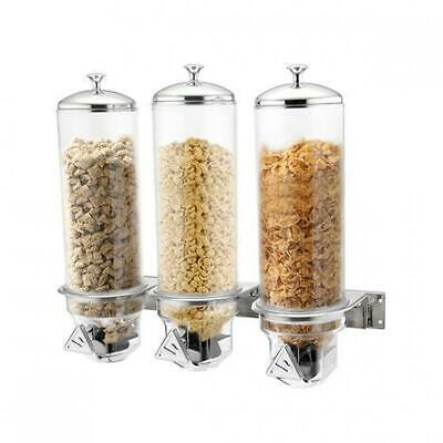 Triple Cereal Dispenser, Wall Mounted, 3x 4L, Sunnex, Commercial Quality