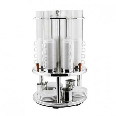 Revolving Cup Dispenser, Holds 48 Cups, Stainless Steel, Coffee / Tea / Beverage