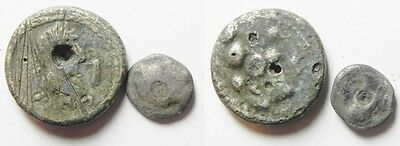 ZURQIEH - aa1023- LOT OF 2 ANCIENT SILVER COINS. GREEK