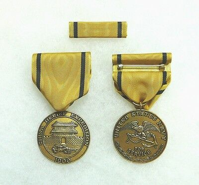 US Department of the Navy China Relief Expedition Medal (type 1 ribbon), set/2