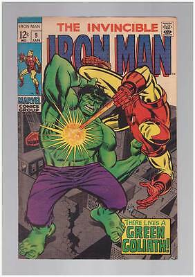 Iron Man # 9  There Lives a Green Goliath !  grade 6.0 scarce book !