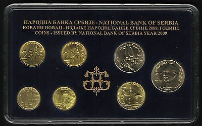 Serbia Official Central Bank Mint Set 2009. 7 Coins, from 1 to 20 Dinara