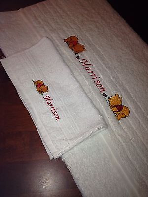 Baby - Personalised Towel And Facewasher - Embroidered