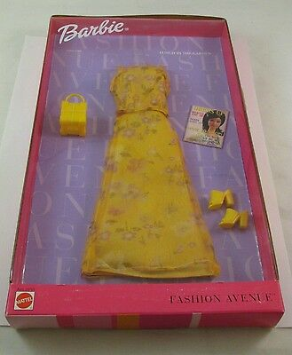Barbie fashion avenue lunch in the garden yellow dress mattel 1999 ages3+  25701