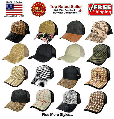 Men Women New Wicker Straw Woven Baseball Cap Curved Visor Summer Hat Snapback
