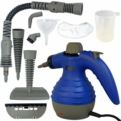 Xtech Electric Easy Handheld Steam Cleaner with 6 Different Attachments NEW