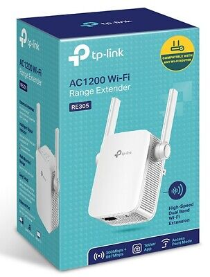 TP-Link RE210 750Mbps Dual Band WiFi Range Extender Wireless AC 750 Gigabit LAN