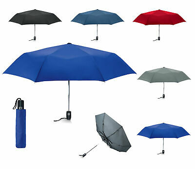 "Deluxe 21"" Automatic opening / close umbrella - Storm Proof - Rubberised Handle"