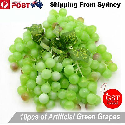 10X Artificial Green Grapes Grape Fake Fruit Home Party Wedding Shop Decoration