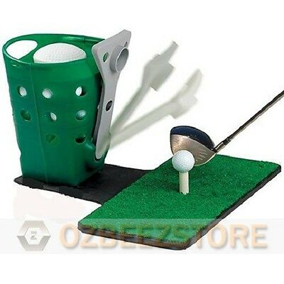 Semi auto golf ball dispenser for practice and training without Mat