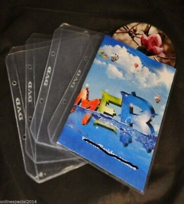 300 CLEAR BALI dvd sleeves for dvd + Movie cover Storage with Rings for Folders