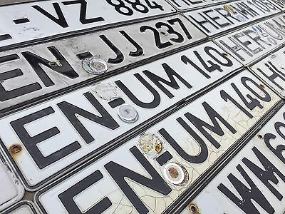 Pre-Euro German License Plate Germany - Becoming Rare and Hard to Find
