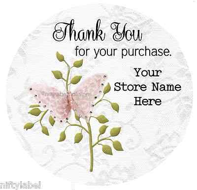 Customized Business Thank You Sticker Labels  - Butterfly #21
