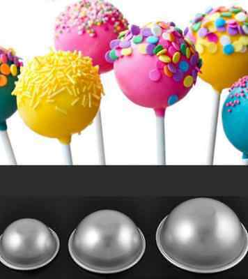 Ball Stainless Steel Sphere Bath Bomb Cake Pan Baking Mold Pastry Mould 2pcs hs