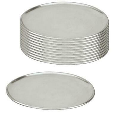 12 x Pizza Tray / Plate / Pan, Aluminium, 450mm / 18 inch, Round, Pizzas