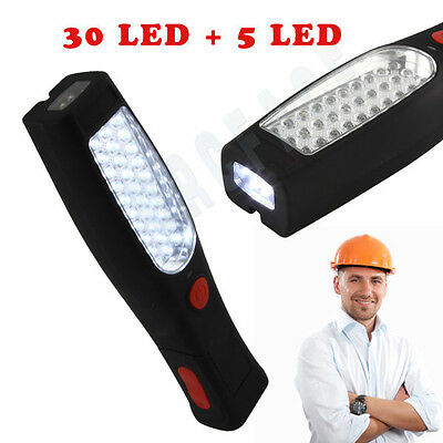 30+5 LED Inspection Lamp Worklight Torch Rechargeable Cordless Flexible Magnetic