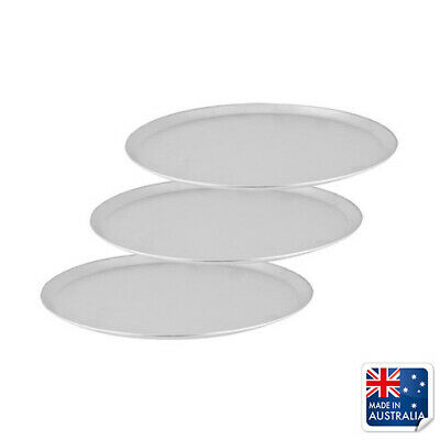 3x Pizza Tray / Plate with Tapered Edge, Aluminium, 200mm / 8 inch, Pizzas