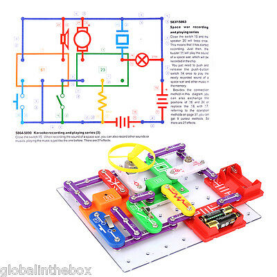 Snap Circuits Electronic Kit Building Experiments Educational Fun Kids Toy Gift