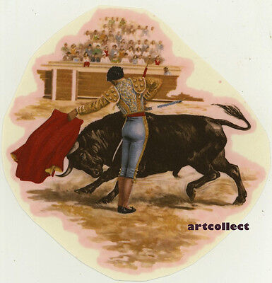 Vintage Ceramic Decal: Bullfighting (Mulder & Zoon. Printed in Holland.)