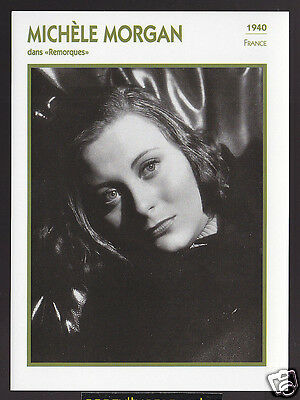 MICHELE MORGAN France Remorques Actress Movie Star FRENCH ATLAS PHOTO BIO CARD
