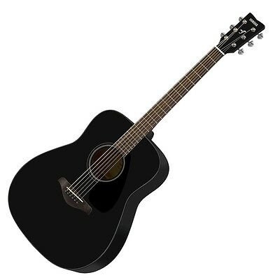 Yamaha FG800-BL Acoustic Folk Guitar (Black). New