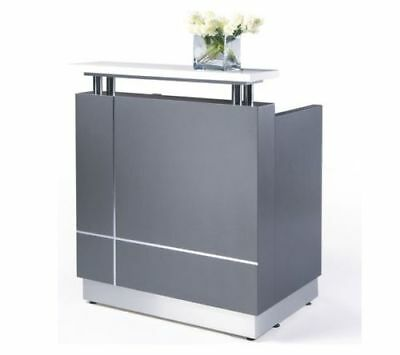 Hair & Beauty Salon Reception Desk with Top Shelf - Retail Shop Counter