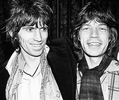 Mick Jagger & Keith Richards Rolling Stones 8X10 Music Photo Photograph