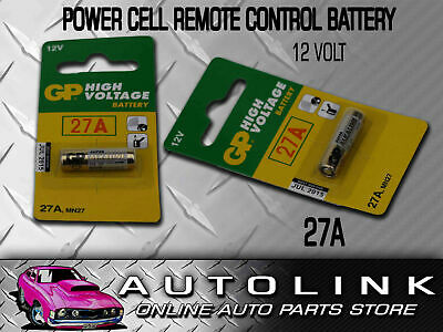 Power Cell 27A 12V Battery For Central Locking Remote Control Car Alarm Key Pad