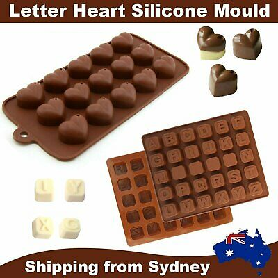 New 3D Silicone Mold Chocolate Heart Alphabet Number DIY Tools Mould Handmade