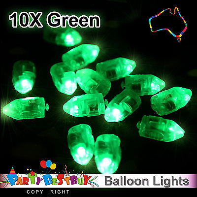 10X LED Balloon Lights Green Colour Paper Lantern Lamp Light  Glow Wedding Party