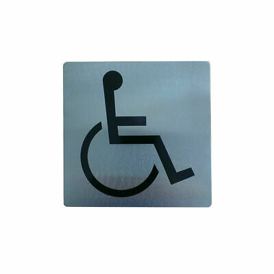 Sign, Disabled Washroom / Access, Stainless Steel, 130 x 130mm