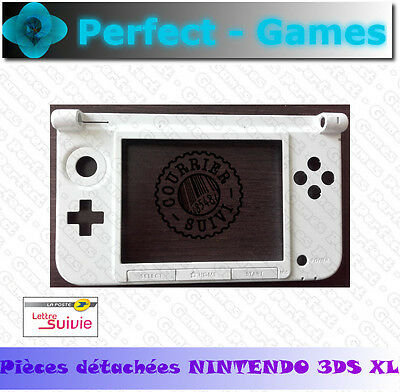 Coque chassis bas bottom blanche white ecran tactile boutons nintendo 3DS XL LL