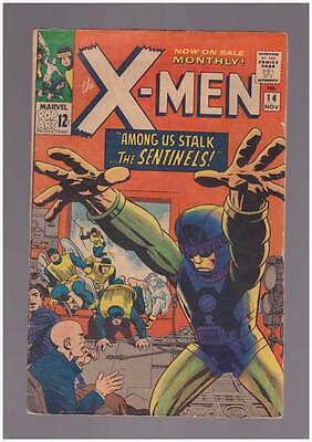 X-Men # 14  First appearance of the Sentinels !  grade 5.0 scarce book !