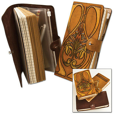 """Classic Leather Journal/Notebook Kit Tandy Leather 4183-00 4-1/8"""" x 7"""" Free Ship"""