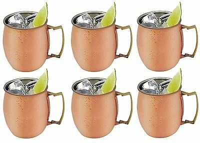 Moscow Mule Copper Russian Cocktail / Gin Mug, 590ml. x6