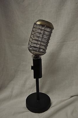 Microphone Table Decor Antique Look Dj Dee Jay Gifts