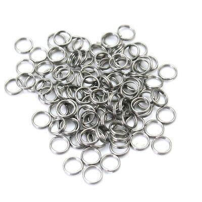 Lots 100pcs Stainless Steel Double Loop Split Open Jump Rings Connector Finding