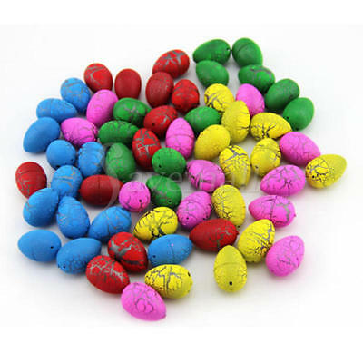 60PCS Children Kids Hatching Growing Dinosaur Eggs Add Water Educational Toy