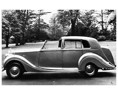 1948 Rolls Royce Silver Wraith Mulliner Factory Photo ca4970
