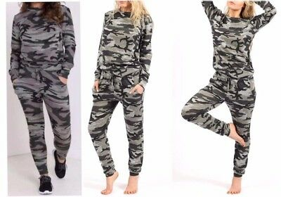 Girls Tracksuit 2Piece Camouflage Army Print Kids Lounge suit Women Jogging suit