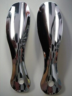 "(2) Two 7.5"" Inches Stainless Steel Professional Metal Shoe Horn Shoespooner"