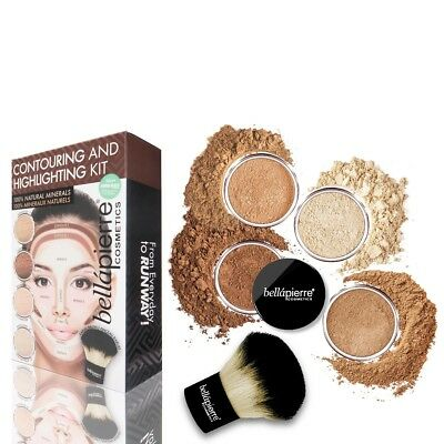 Bellapierre All Over Face Contour and Highlighting Kit -UNIVERSAL-Mineral Makeup